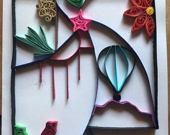 Quilled New Mexico Card