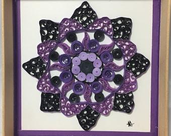 Nattie Purple Quilled Mandala
