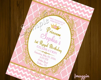 Pink and Gold birthday Invitations | Pink and gold invite