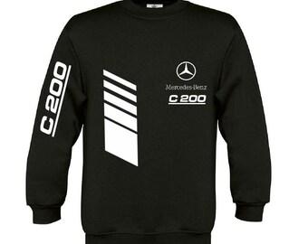 Mercedes C200 sweatshirt Mercedes sweater Mercedes Benz hoodie Mercedes amg hooded mercedes  hooded polar shirt