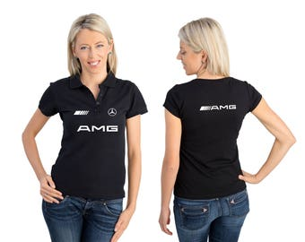 Mercedes AMG logo Polo women More Colors & Sizes Free Shipping