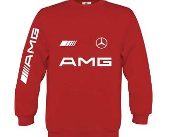 Mercedes AMG sweatshirt Mercedes sweater Mercedes Benz hoodie Mercedes amg hooded mercedes  hooded polar shirt
