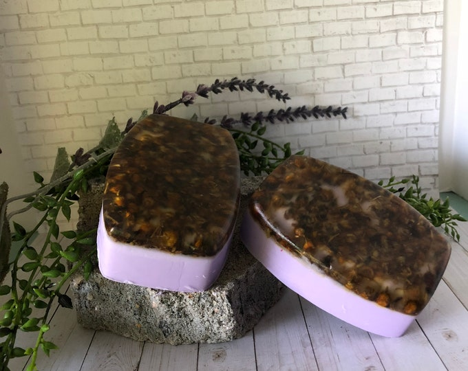 Handmade Soap, Lavender soap, Chamomile soap, Goat Milk Soap, Lavender Chamomile Soap, Spa Soap