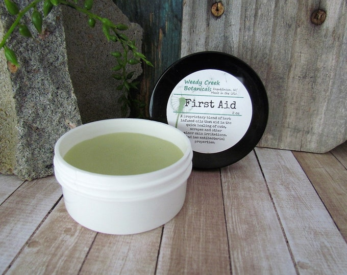 First Aid Balm, Natural skin balm, cuts and scrapes, boo boo balm
