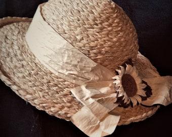 7f35943f summer wide brim thick beige straw