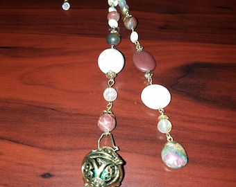 """Gemstone Rear View Mirror Charm  and Diffuser~ Car Accessory- """"Equity in Zenith"""" CarGem Diffuser"""