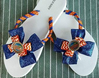 269a71388ac470 Cheer team flip flop