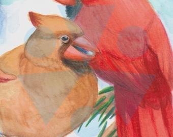 Perched Cardinals