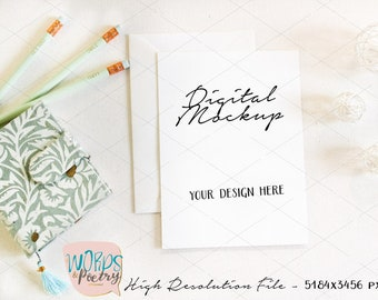 Download Free Mint Card Mockup, Wedding Mock up, Stationery Mockup, Rustic Mockup, Feminine Mockup, Floral Mockup, Styled Stock Photography, Rustic Mockup PSD Template