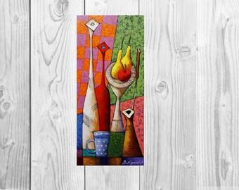 Oil painting Still life painting Still life oil painting original Still life fruit painting Still life food wall art Kitchen wall art Gift