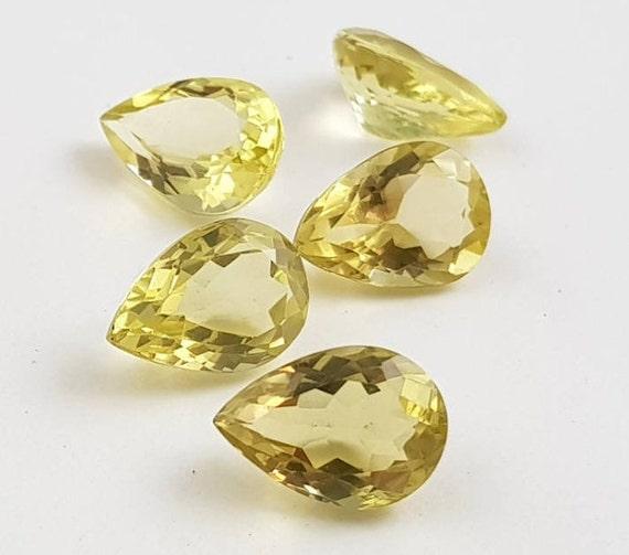 10 pc Natural Lemon Quartz LOT oval Stone cabochon lot topaz gemstones Jewelry loose Healing semi precious stones WHOLESALE crystals gems