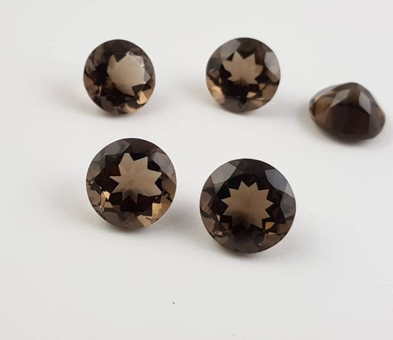 AAA Quality Natural Smokey Quartz Round 7mm Wholesale Lot of 15