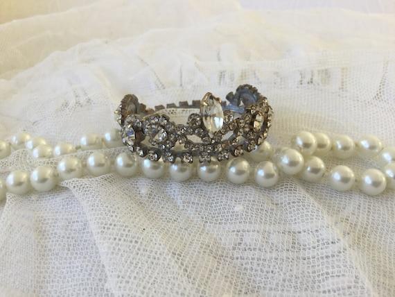 Antique very small rhinestone crown tiara tiara do