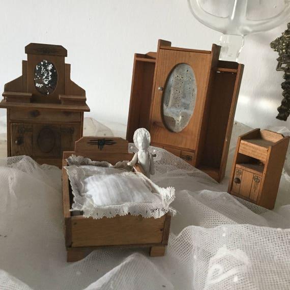 Antique Petite Art Deco Poupees Poupee De Mobilier Chambre Etsy