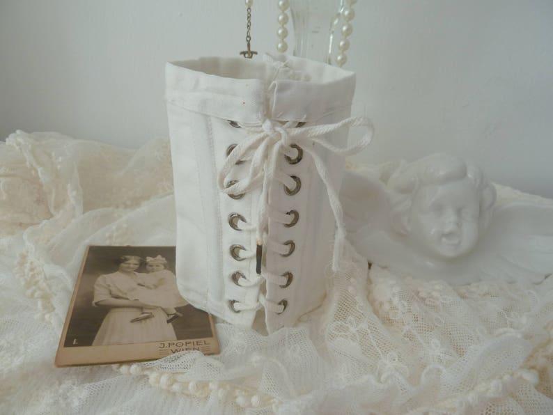 9e02348b2 Antique Doll Corset Edwardian style Victorian style underwear
