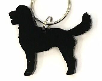 c64d32f57 Labradoodle Dog Keyring Keychain Bag Charm Gift in Black