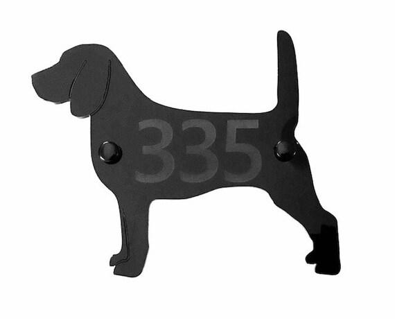 Dog Door House Sign Plaques in Black