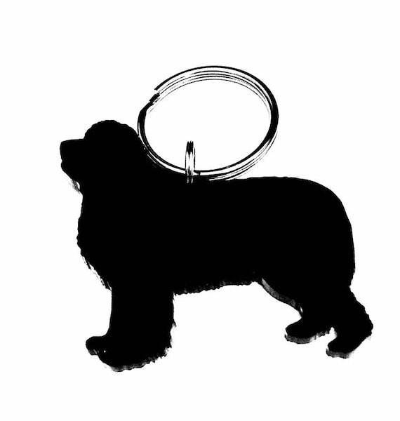 Newfoundland Keyring Gift//Present Dog