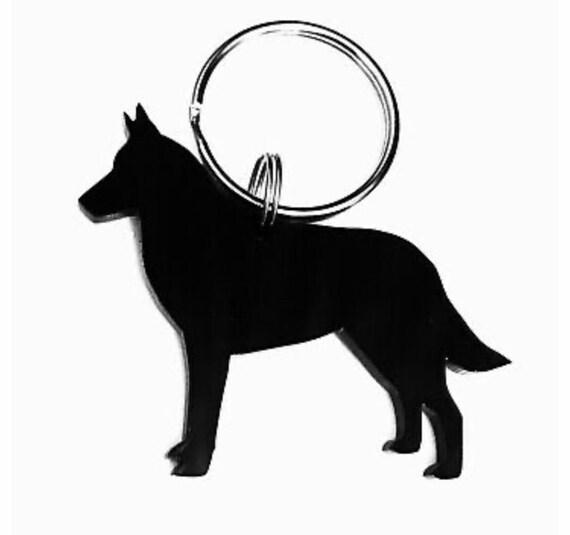 High Quality Dog keyring for dog lovers Dog Crystal Keyring Belgian Shepherd Exceptional Gift Keychain