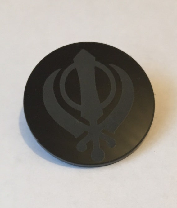 Sikh Khanda symbole Iron On Patch Applique