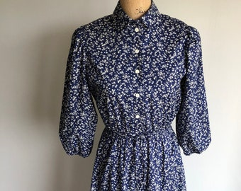 Vintage 1950s Ditzy Floral Dress - Union Made