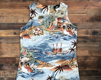 Vintage Hawaiian Novelty Sun Dress