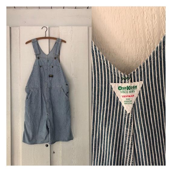 vintage Oshkosh overalls - shortalls - railroad st