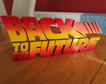 Back to the Future logo/ Delorean/bttf
