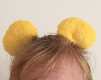 Bear clip on ears (inspired by Winnie the Pooh)