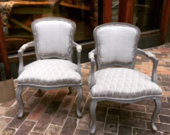 French Antique Chair Reupholstered. PRICE PER CHAIR.