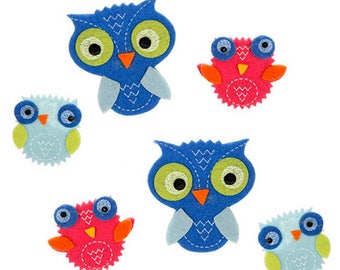 Cute Owl Felt Stickers