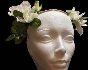 Semi Simple Flower Crown White
