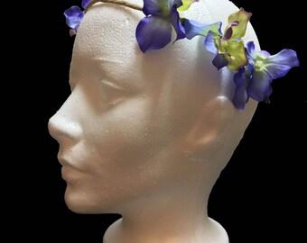 Simple Flower Crown Blue