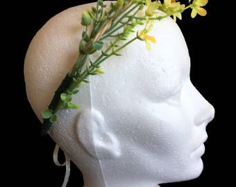 Simple Flower Crown Yellow or Pink