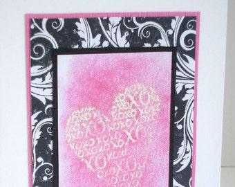 Handmade wedding card, anniversary card