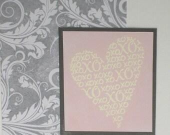 Handmade anniversary, wedding, engagement card