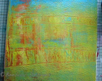 """Abstract Acrylic on Canvas """"Reflections"""""""