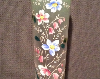 Victorian hand painted vase