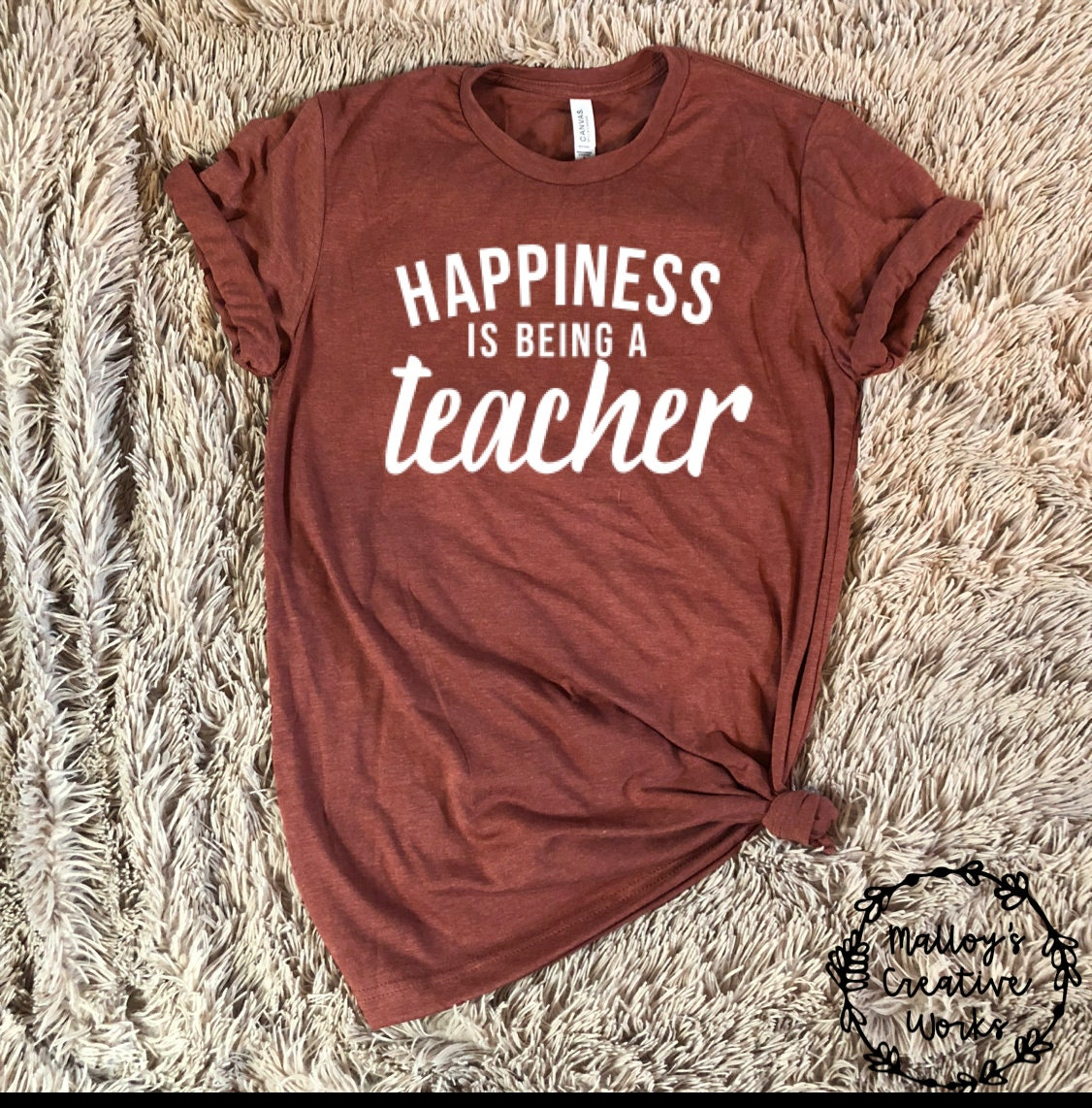 0a4719ae5e5 Happiness is Being a Teacher Graphic T-Shirt - Teacher T-Shirts - Women's  Graphic Tees - Men's Graphic Tees