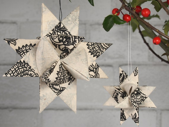Black and White Paisley Hygge Star