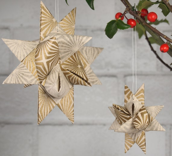 Gold Starburst Star Ornament