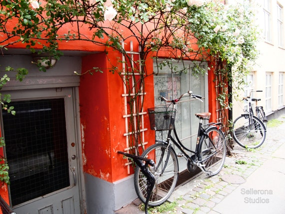 Red Bikes in Copenhagen