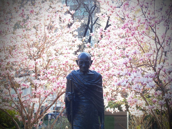 Gandhi with Magnolias