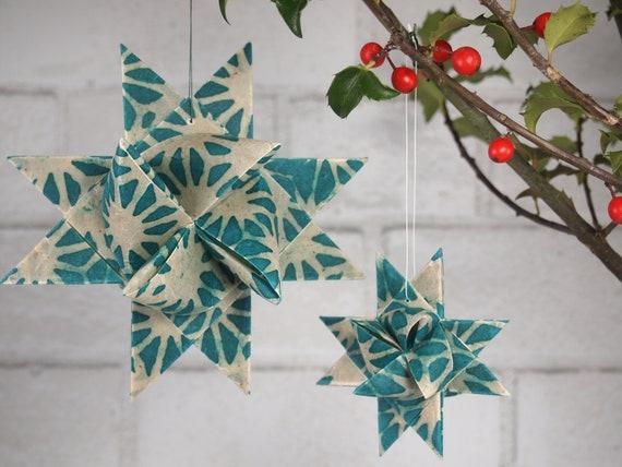 Turquoise and White Hygge Danish Star