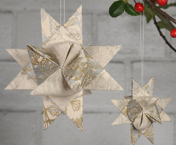 Gold and Silver Star Ornament