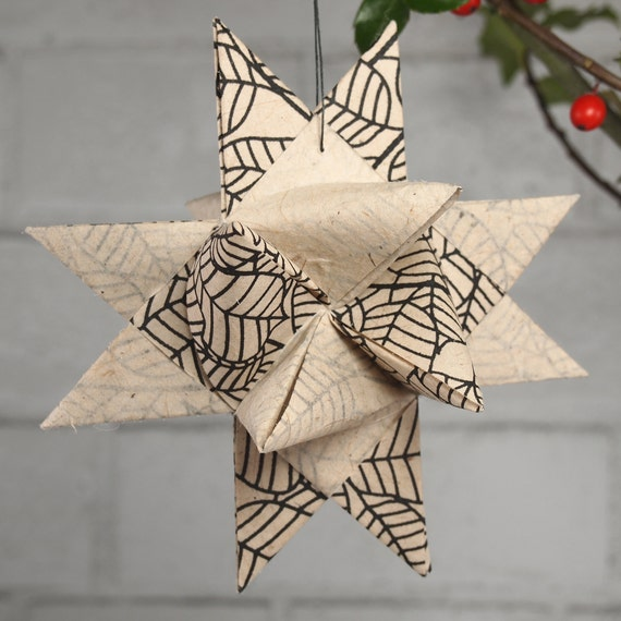 Black and White Christmas Star Ornament
