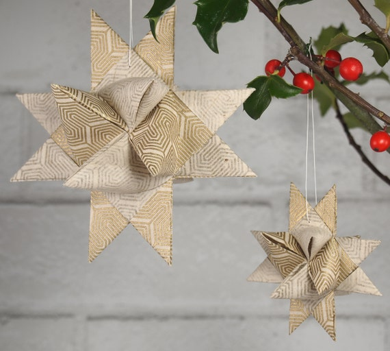Gold Lines Christmas Star Ornament