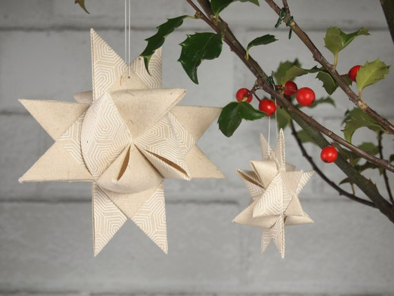 White Geometric Lines Hygge Danish Star