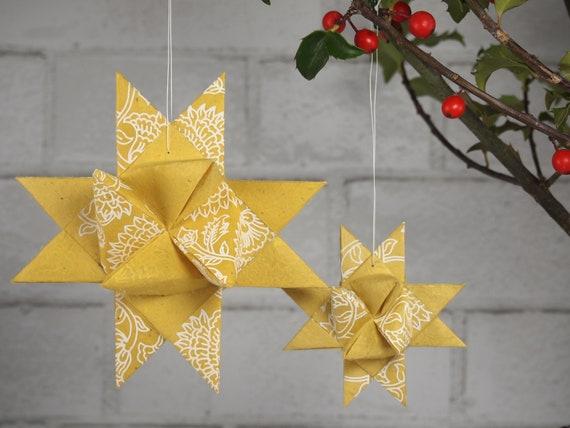 Yellow Paisley Hygge Danish Stars