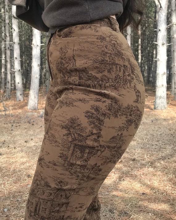 1990's Printed Pants - image 3